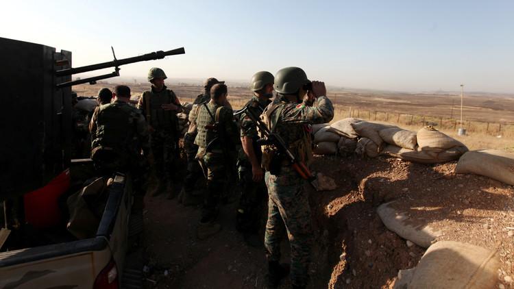 جنود من التحالف مع البيشمركة في هجوم قرب الموصل