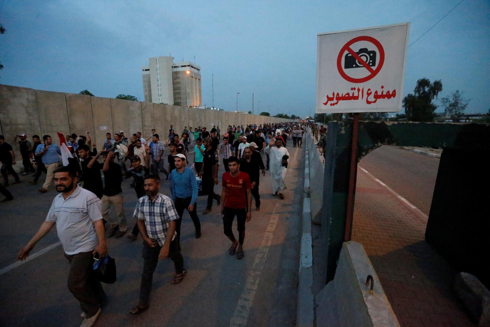 انسحاب المعتصمين من المنطقة الخضراء وسط بغداد