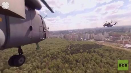 موسكو بالتصوير البانورامي من متن مروحية مي-8