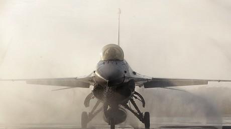 """مقاتلة من طراز """"إف-16"""" - صورة أرشيفية"""