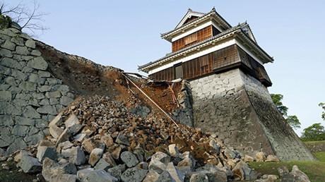 إصابة 361 معلما تراثيا جراء زلزال ضرب اليابان