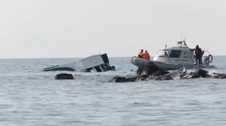 غرق سفينة مهاجرين في البحر - أرشيف