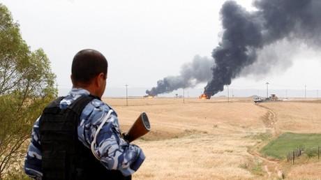 عنصر من قوات الأمن الكردية
