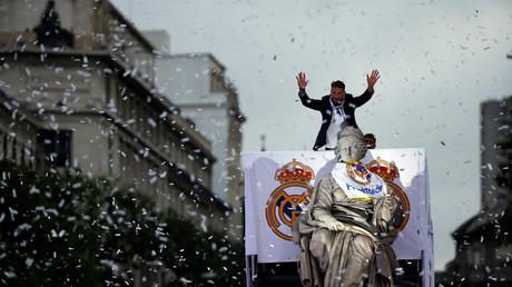 احتفالات ريال مدريد بفوزه بدوري أبطال أوروبا
