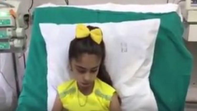طائرة روسية تنقل طفلة سورية إلى موسكو للعلاج (فيديو)