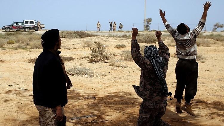 الجيش الليبي يدخل سرت