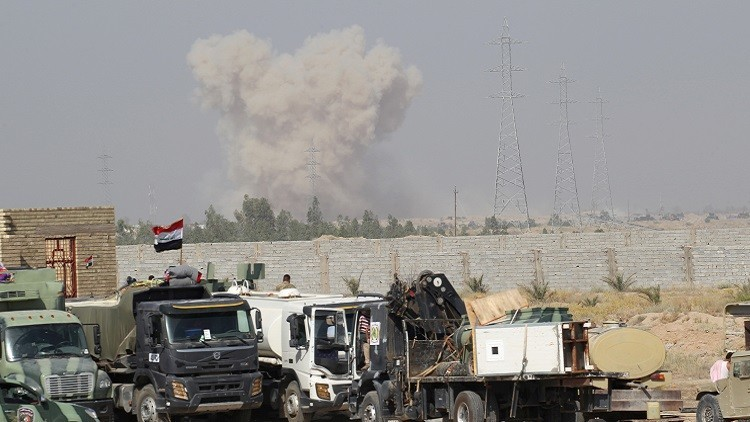 سقوط ضحايا جراء تفجير انتحاري قرب الفلوجة (صور)