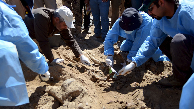 مقبرة جماعية في الفلوجة تضم رفات نحو 400 عسكري
