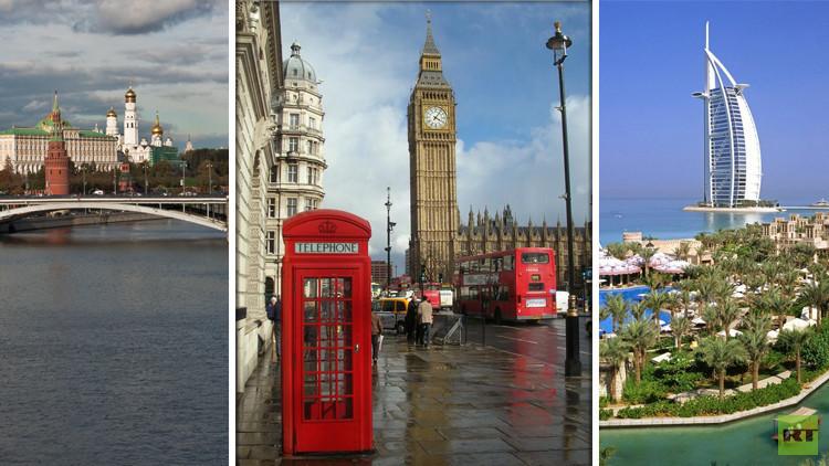 تصنيف: لندن أفضل مدينة عالميا ودبي عربيا وموسكو في المركز الـ18