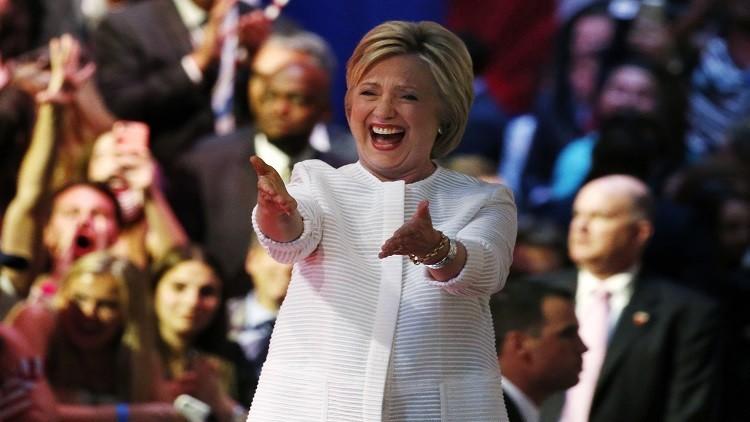 كلينتون تعلن أنها الفائزة بترشيح حزبها وتشن هجوما لاذعا على ترامب