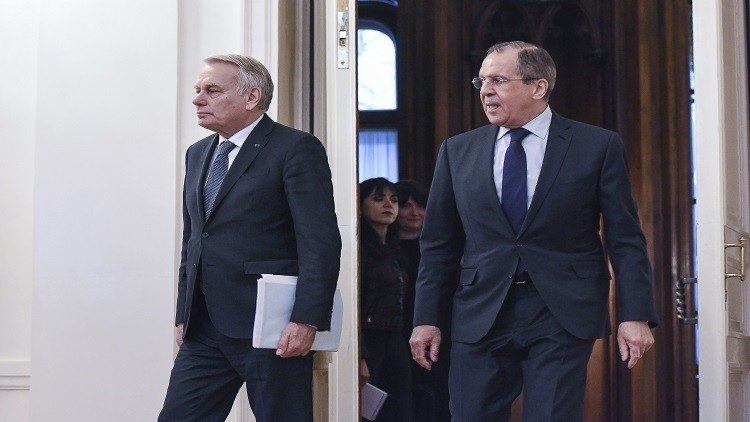 لافروف يلتقي نظيره الفرنسي لبحث الملف السوري