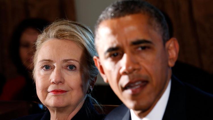 أوباما يدعم كلينتون في السباق للرئاسة