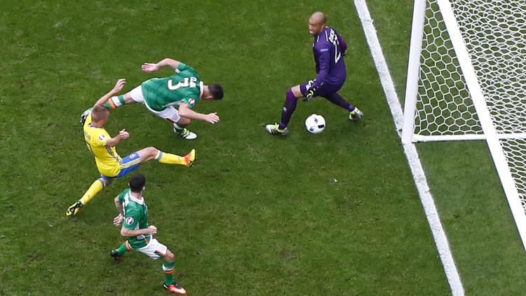 بالفيديو .. تعادل السويد وإيرلندا في