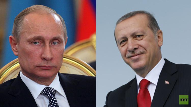 أردوغان لبوتين: أتمنى عودة علاقاتنا إلى سابق عهدها