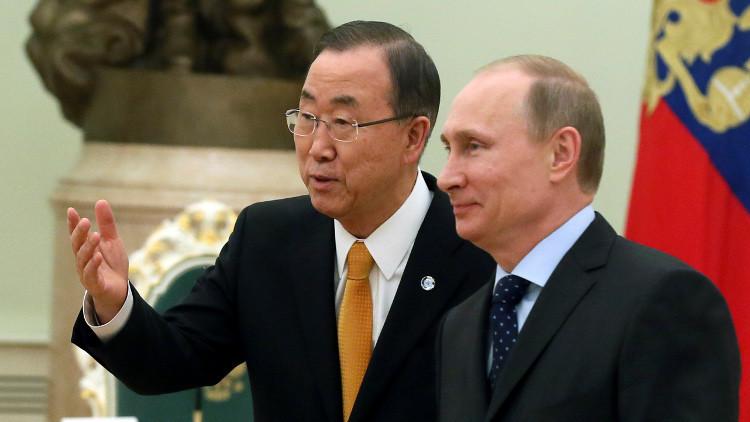 موسكو: بوتين يبحث أزمة سوريا مع بان كي مون