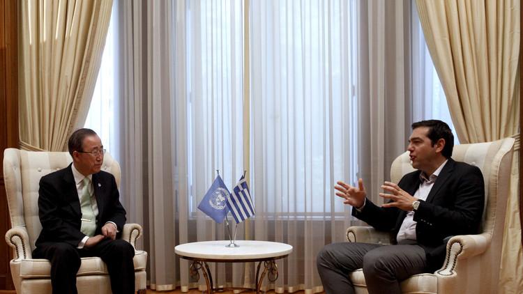 بان كي مون يدعو إلى دعم اليونان في تعاملها مع أزمة اللجوء