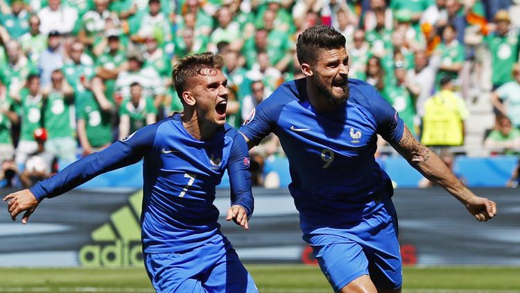 فرنسا تبدد أحلام إيرلندا وتبلغ ربع النهائي .. فيديو
