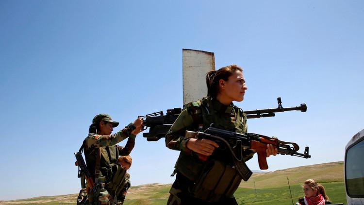 أول كتيبة عسكرية نسائية لفتيات إيزيديات