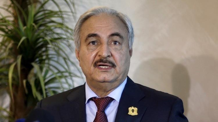 حفتر في موسكو لبحث الأزمة الليبية