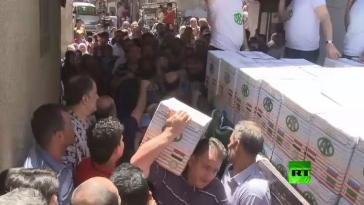 جمعية قاديروف الخيرية تساعد المحتاجين في دمشق