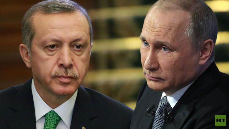 أردوغان يعتذر لبوتين على مقتل الطيار الروسي في أجواء سوريا