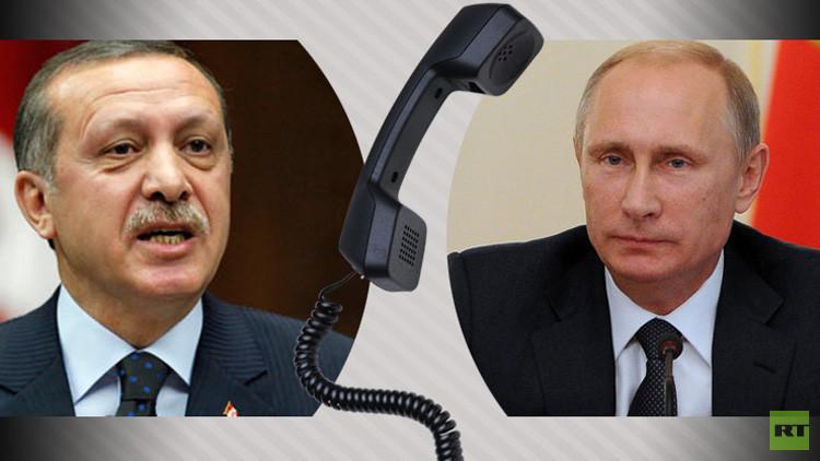 بوتين يهاتف أردوغان الأربعاء