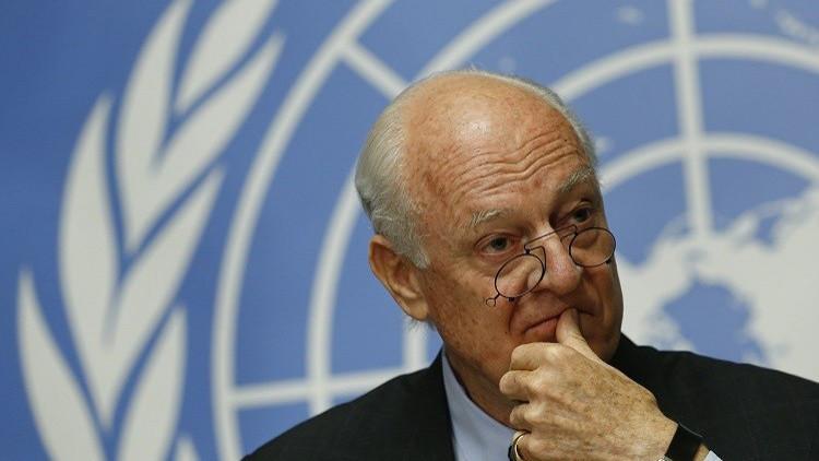 دي ميستورا إلى واشنطن لبحث الأزمة السورية