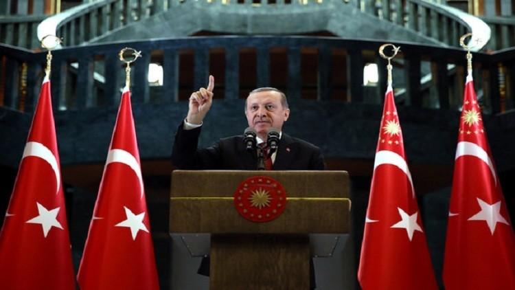 أردوغان: نقف مع الجيش والشرطة في مواجهة الإرهاب
