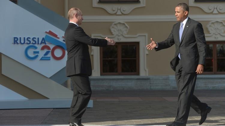 بوتين يهنئ أوباما والأمريكيين بعيد الاستقلال