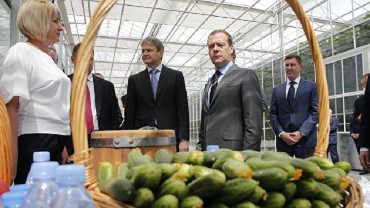 مدفيديف: لن نهرول لاستيراد الخضروات التركية