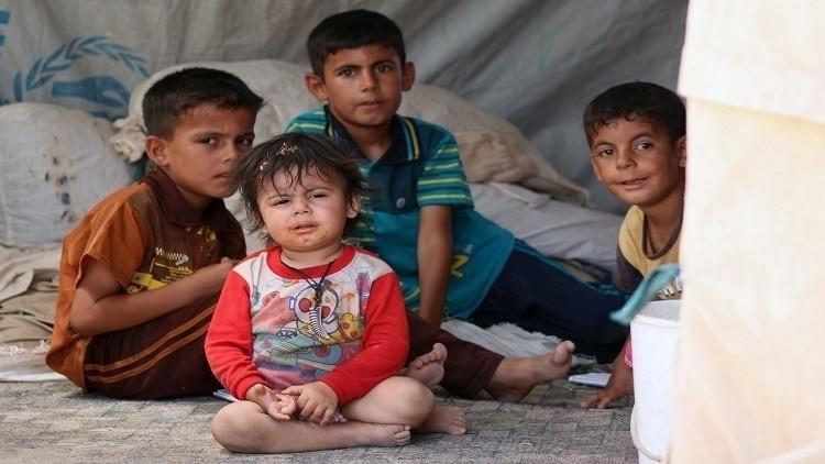 مقتل 3 أطفال في قصف مخيم للنازحين جنوب بغداد
