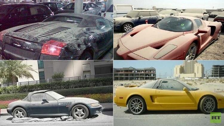 سيارات فاخرة مهملة في شوراع دبي! (صور)