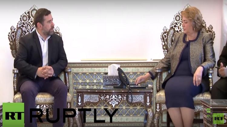 وفد أوروبي يدعو من دمشق إلى عدم التدخل في شؤون الدول