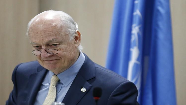 دي ميستورا يشاطر لافروف قلقه إزاء التسوية بسوريا