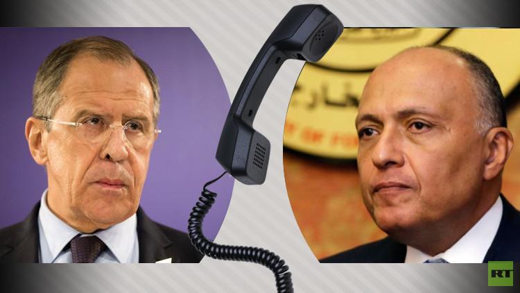لافروف وشكري يبحثان التسوية الفلسطينية الإسرائيلية