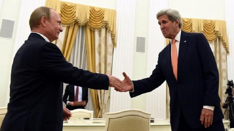 بوتين وكيري يبحثان تشديد الخناق على تنظيمي