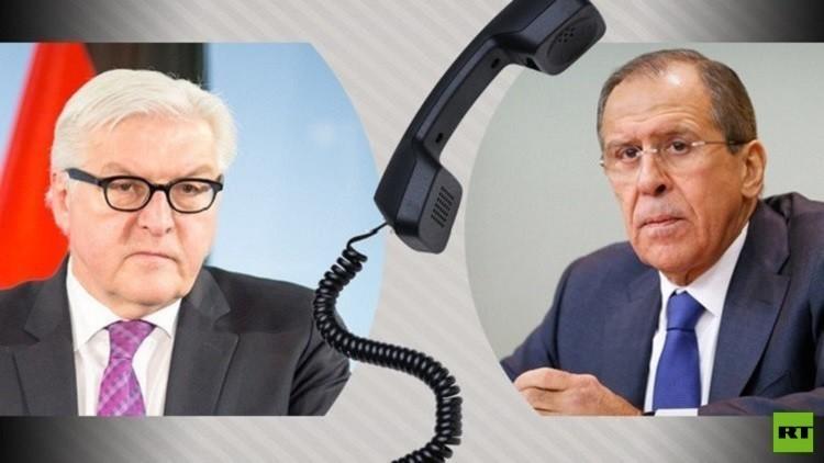 لافروف ونظيره الألماني يبحثان الأزمة الأوكرانية