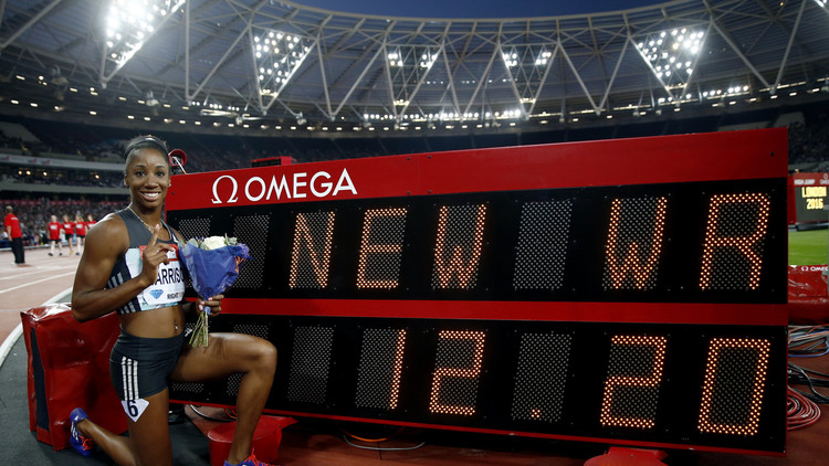 الأمريكية هاريسون تحطم الرقم العالمي في سباق 100 م حواجز