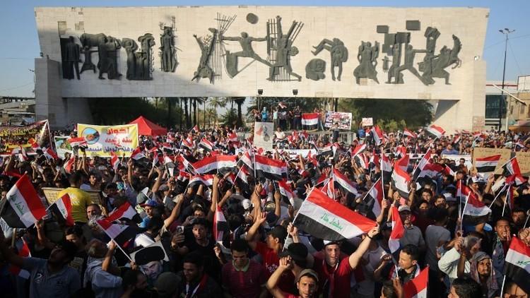 المئات يتظاهرون مجددا في بغداد للمطالبة بإصلاحات