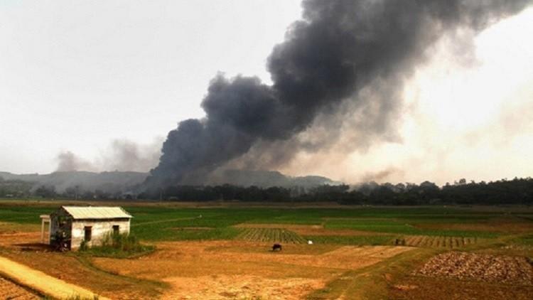 حريق ضخم قرب قاعدة للناتو في تركيا