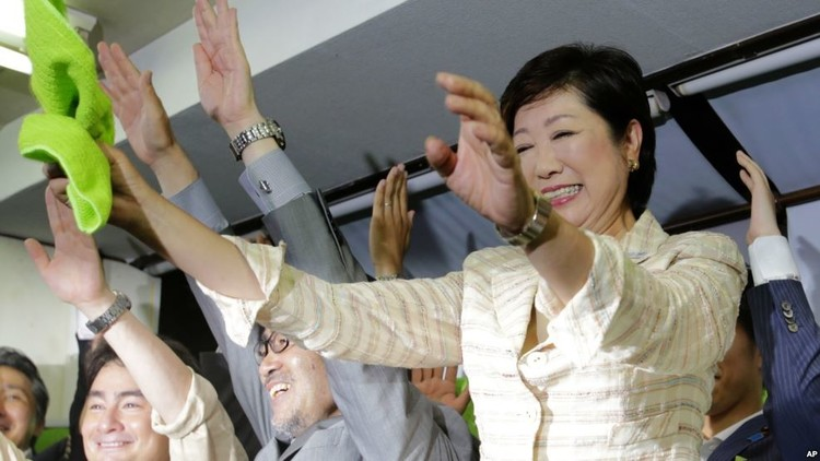 حاكمة طوكيو الجديدة تتحدث العربية!