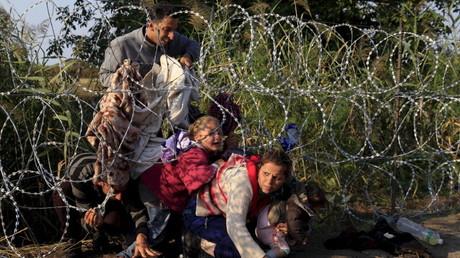 لاجئون سوريون في هنغاريا