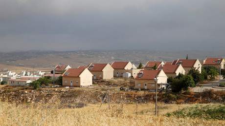 إحدة المستوطنات الإسرائيلية في منطقة الخليل بالضفة الغربية