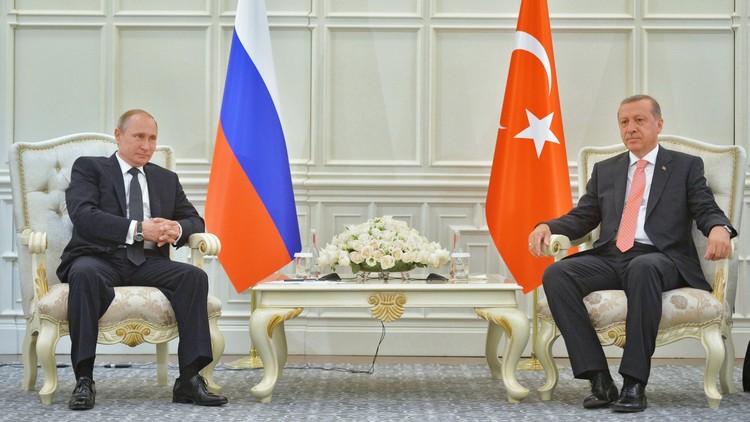 أردوغان: سأبحث مع بوتين التعاون الاقتصادي وأزمة الطائرة الروسية