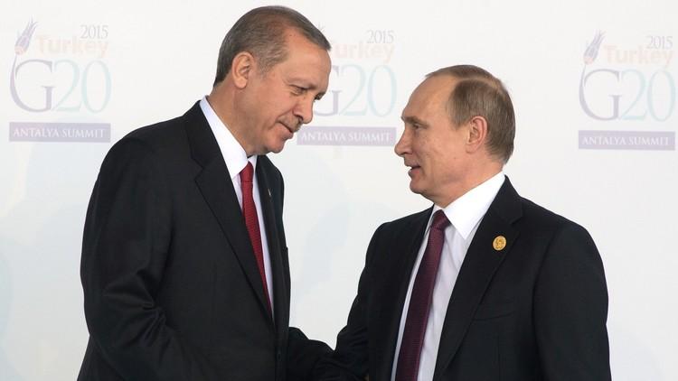 قمة بوتين-أردوغان تبحث بناء العلاقات الثنائية