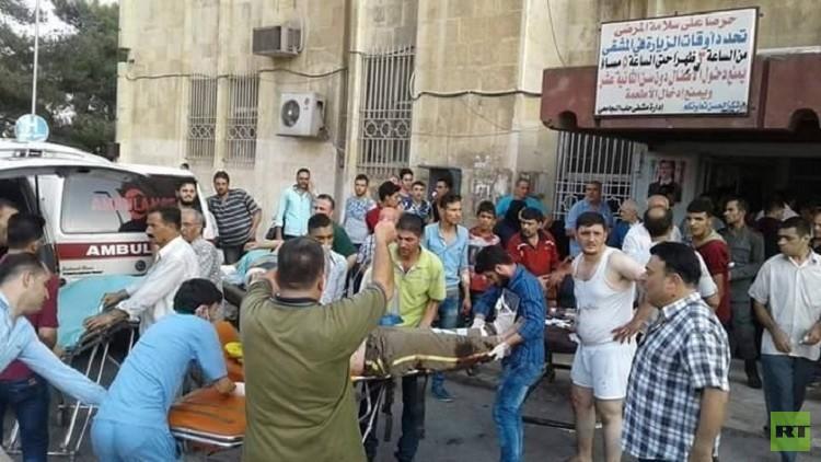 مسلحون يقصفون حلب بأسطوانات الغاز