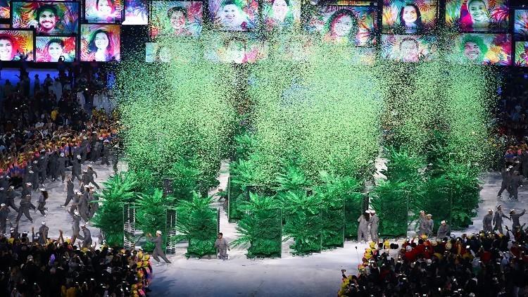 افتتاح دورة الألعاب الأولمبية في ريو دي جانيرو