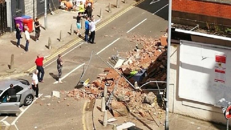بالفيديو.. انفجار مطعم في غلاسكو في اسكتلندا