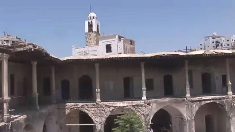 تواصل جهود إعمار حمص
