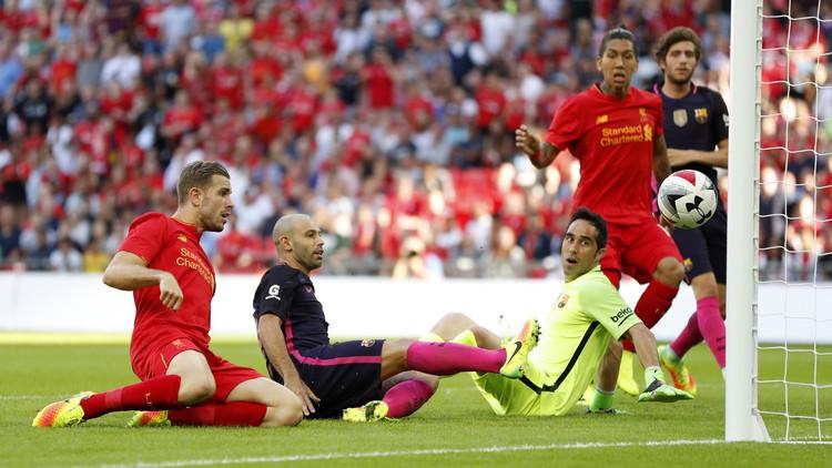 كأس الأبطال.. ليفربول يهزم برشلونة وديا